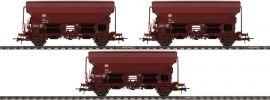Roco 76575 3-tlg. Set Schwenkdachwagen | DB AG | DC | Spur H0 online kaufen