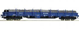 Roco 76590 Rungenwagen Res Stahlrollen PKP Cargo | DC | Spur H0 online kaufen