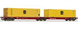 Roco 76630 Container-Doppeltragwagen MSC DB Schenker | DC | Spur H0 online kaufen