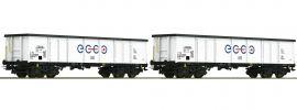 Roco 76731 Offene Güterwagen-Set 2-tlg. Eaos Ecco | Spur H0 online kaufen