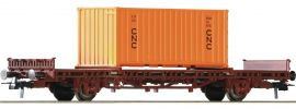 Roco 76986 Rungenwagen + Container SNCF | DC | Spur H0 online kaufen