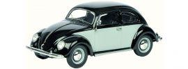 Schuco 450387700 VW Brezelkäfer grau schwarz | Automodell 1:43 online kaufen