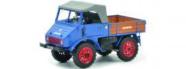 Schuco 450900300 Mercedes Benz Unimog U401 blau | Landwirtschaftsmodell 1:32 online kaufen