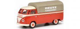 Schuco 452641000 VW T1b rot Deutz Kundendienst | Modellauto 1:87 online kaufen