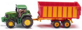 siku 1650 John Deere mit Silagewagen | Traktormodell online kaufen