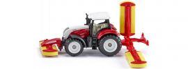 siku 1672 Steyr mit Pöttinger Mähwerkskombination | Traktormodell online kaufen