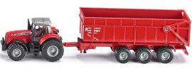 siku 1844 Massey Ferguson 8480 mit Anhänger | Traktormodell 1:87 online kaufen