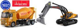 SIKU 7510 Sonderset Hydraulik-Bagger und Zementlaster | MAX BÖGL | Baumaschinen 1:50 online kaufen