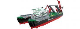 Sluban M38-70093B Containerschiff Pioneering Spirit | Schiff Baukasten online kaufen