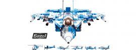 Sluban M38-B0665 Kampfjet 6in1 Komboset | Flugzeug Baukasten online kaufen