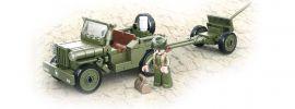 Sluban M38-B0853 WWII All. Jeep mit Feldhaubitze | Militär Baukasten online kaufen