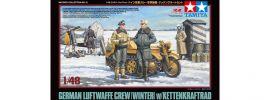 TAMIYA 32412 Dt. Figuren-Set Luftwaffe mit Kettenkraftrad | Militär Bausatz 1:48 online kaufen