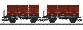 TRIX 24177 Kokskübeltragwagen-Set 3 Kübel DB | Spur H0 online kaufen