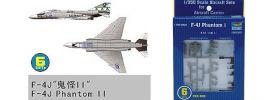 TRUMPETER 756219 McDonnell F-4J Phantom II 6 Stück im Set für Flugzeugträger Bausatz 1:350 online kaufen