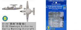 TRUMPETER 756222 Grumman E-2 C Hawkeye Airborne 6 Stück für Flugzeugträger Bausatz 1:350 online kaufen