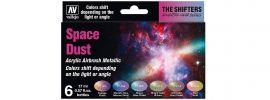 VALLEJO 777091 Airbrush-Farbset Space Dust | 6  x 17ml online kaufen