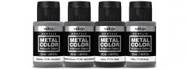VALLEJO 777601 Airbrush-Farbset Metall-Finish | 4 x 32ml online kaufen