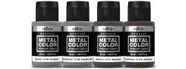 VALLEJO 777602 Airbrush-Farbset Metall, Abgasrohr Strahlantrieb | 4 x 32ml online kaufen