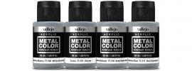 VALLEJO 777603 Airbrush-Farbset Metall, Holzanstrich | 4 x 32ml online kaufen