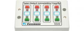 Viessmann 5549 Universal-Tasten-Stellpult rückmeldefähig Spur HO online kaufen
