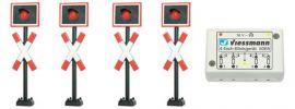 Viessmann 5800 Andreaskreuze mit Blinkelektronik | Signale Spur N online kaufen