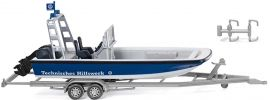 WIKING 009546 THW - Mehrzweckboot MZB72 (Lehmar) mit Anhänger Boot-Modell 1:87 online kaufen