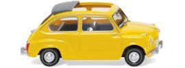 WIKING 009905 Fiat 600 m. offenem Faltdach, gelb Modellauto 1:87 online kaufen
