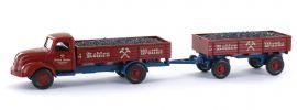 WIKING 042051 Pritschenhängerzug Magirus S 3500 Wuttke | I+S Sondermodell | LKW-Modell 1:87 online kaufen