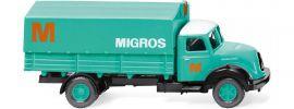 WIKING 042602 Magirus Sirius Pritsche MIGROS | LKW Modell 1:87 online kaufen