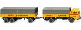 WIKING 043201 MB 1620 Pritschenhängerzug | deuka | LKW Modell 1:87 online kaufen