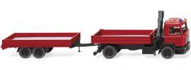 WIKING 060130 MAN F 90 Pritschenhängerzug FW | Blaulichtmodell 1:87 online kaufen