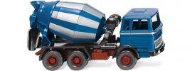 WIKING 068206 MB Betonmischer azurblau/silber | Baumaschinenmodell 1:87 online kaufen