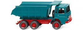 WIKING 086633 MAN Muldenkipper wasserblau | LKW-Modell 1:87 online kaufen