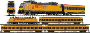 ARNOLD HN2499 4-tlg. Zugset E-Lok BR 386 mit Personenwagen Regiojet | analog | Spur N kaufen