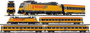 ARNOLD HN2499D 4-tlg. Zugset E-Lok BR 386 mit Personenwagen Regiojet | DCC | Spur N kaufen