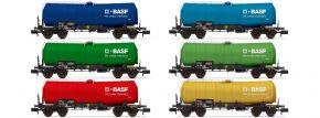ARNOLD HN6541 6-tlg. Display-Set Kesselwagen D-BASF | Spur N kaufen