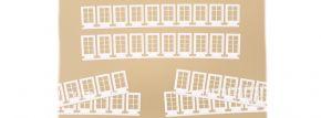 Auhagen 80222 Fenster Q und R weiss 60 Stück Zubehör Spur H0 kaufen