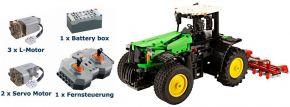 BlueBrixx 103215 RC Traktor mit Scheibenegge | Traktor Baukasten kaufen