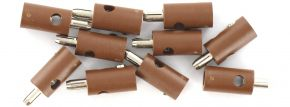 BRAWA 3054 Runde Querlochstecker | 2,5 mm | Braun | 10 Stück kaufen