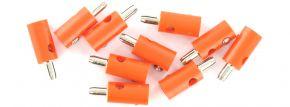 BRAWA 3056 Runde Querlochstecker | 2,5 mm | Orange | 10 Stück kaufen