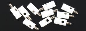 BRAWA 3059 Runde Querlochstecker | 2,5 mm | Weiß | 10 Stück kaufen