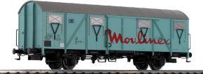 BRAWA 47280 Gedeckter Güterwagen Gos 245 Moulinex DB | DC | Spur H0 kaufen