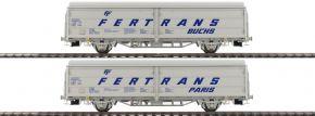 BRAWA 48971 2-teiliges Set Schiebewandwagen Hbis FERTRANS | ÖBB | DC | Spur H0 kaufen