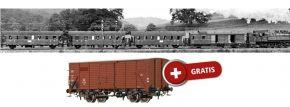 BRAWA B2013 Wagen-Set Donnerbüchsen mit Beleuchtung DRG   AC   Spur H0