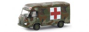BREKINA 14640 Saviem SG2 Militär Sanität Radiologie 1965 | Militärmodell 1:87 kaufen
