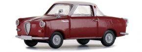 BREKINA 27851 Goggomobil Coupé rot weiss | Automodell 1:87 kaufen