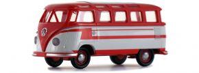 BREKINA 31843 VW T1b Samba rot hellgrau | Automodell 1:87 kaufen