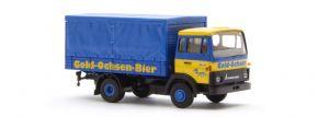 BREKINA 34710 Magirus MK Getraenkeaufbau Ulmer Goldochsen Bier LKW-Modell 1:87 kaufen