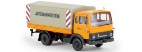 BREKINA 34718 Magirus MK Pritsche Plane Autobahnmeisterei LKW-Modell 1:87 kaufen