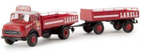 BREKINA 47124 MB L 322 Bierpritschenzug Larell | Lkw-Modell 1:87 kaufen